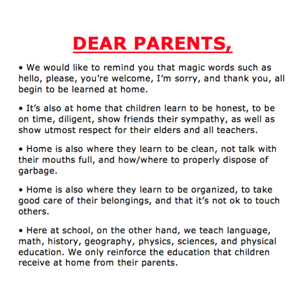 open letter to parents 2