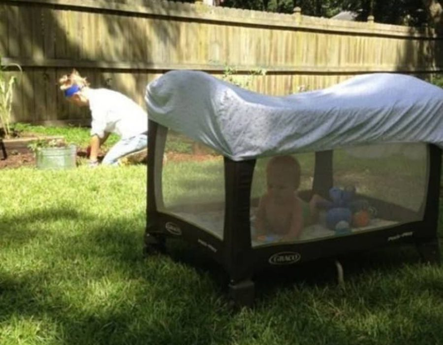 fitted sheet awning parent hack