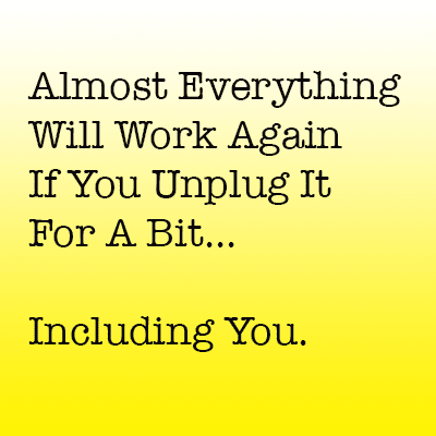 everything works if you unplug it